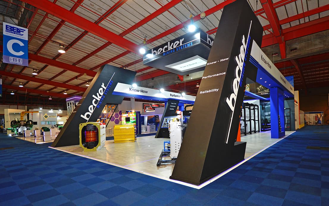Becker Electra Mining Expo Stand Design