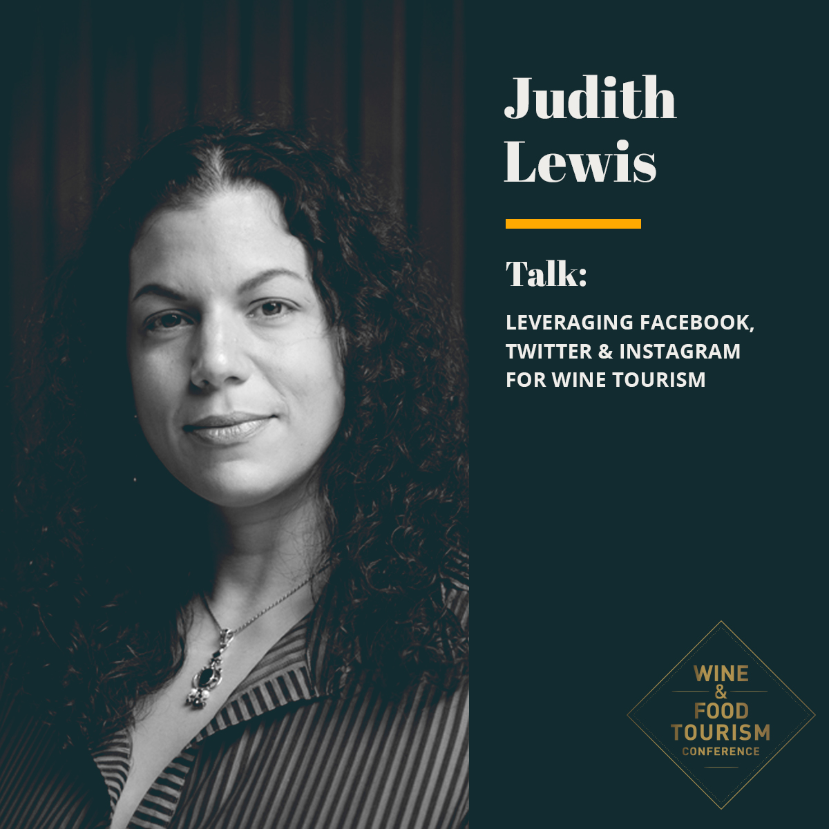 Judith Lewis Wine & Food Tourism Conference Event